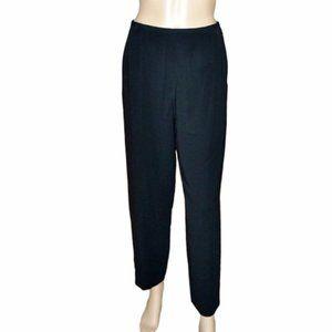 NWT Talbots Black Tapered Career Dress Pants 6P